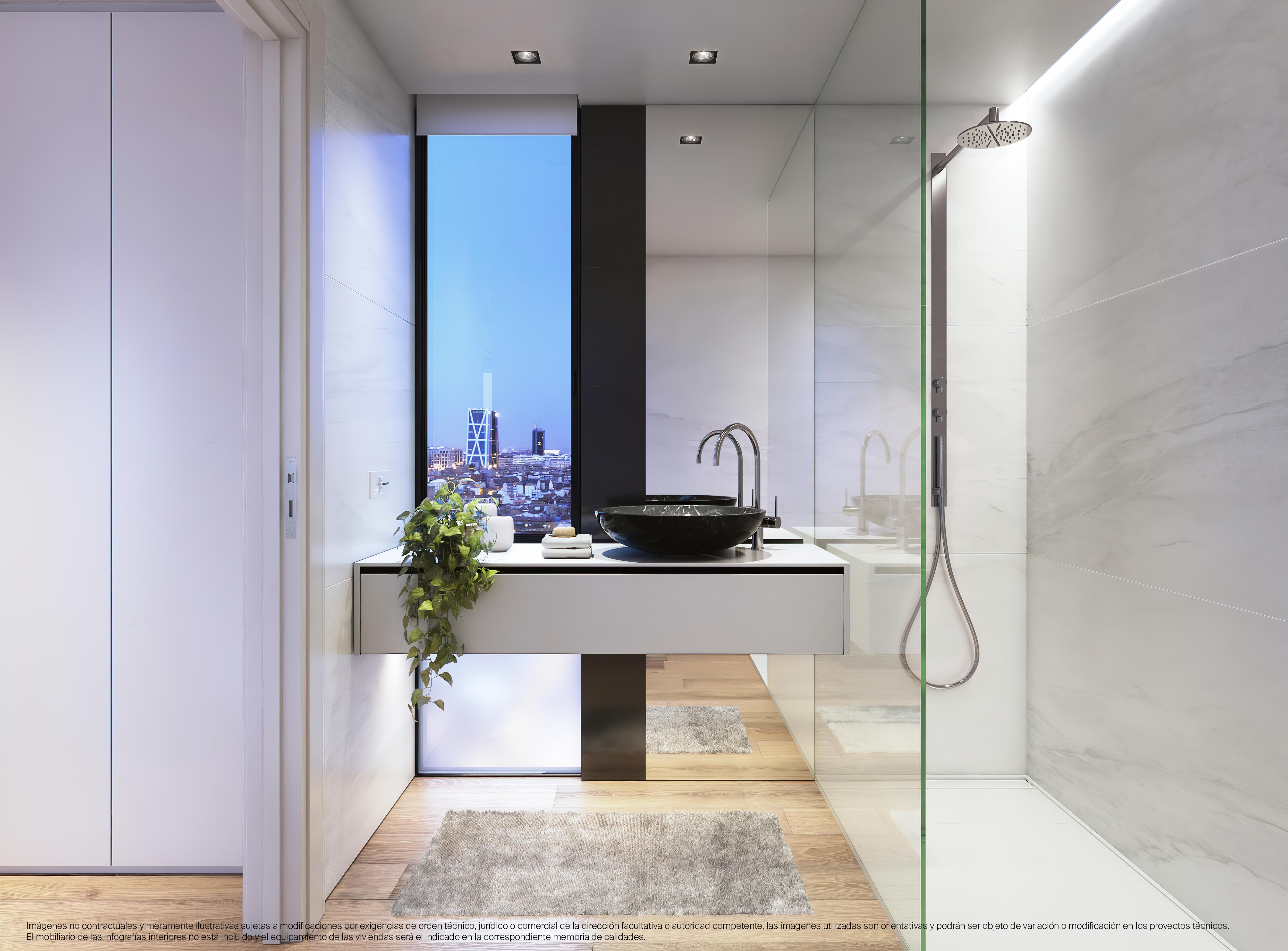 El baño con altas calidades