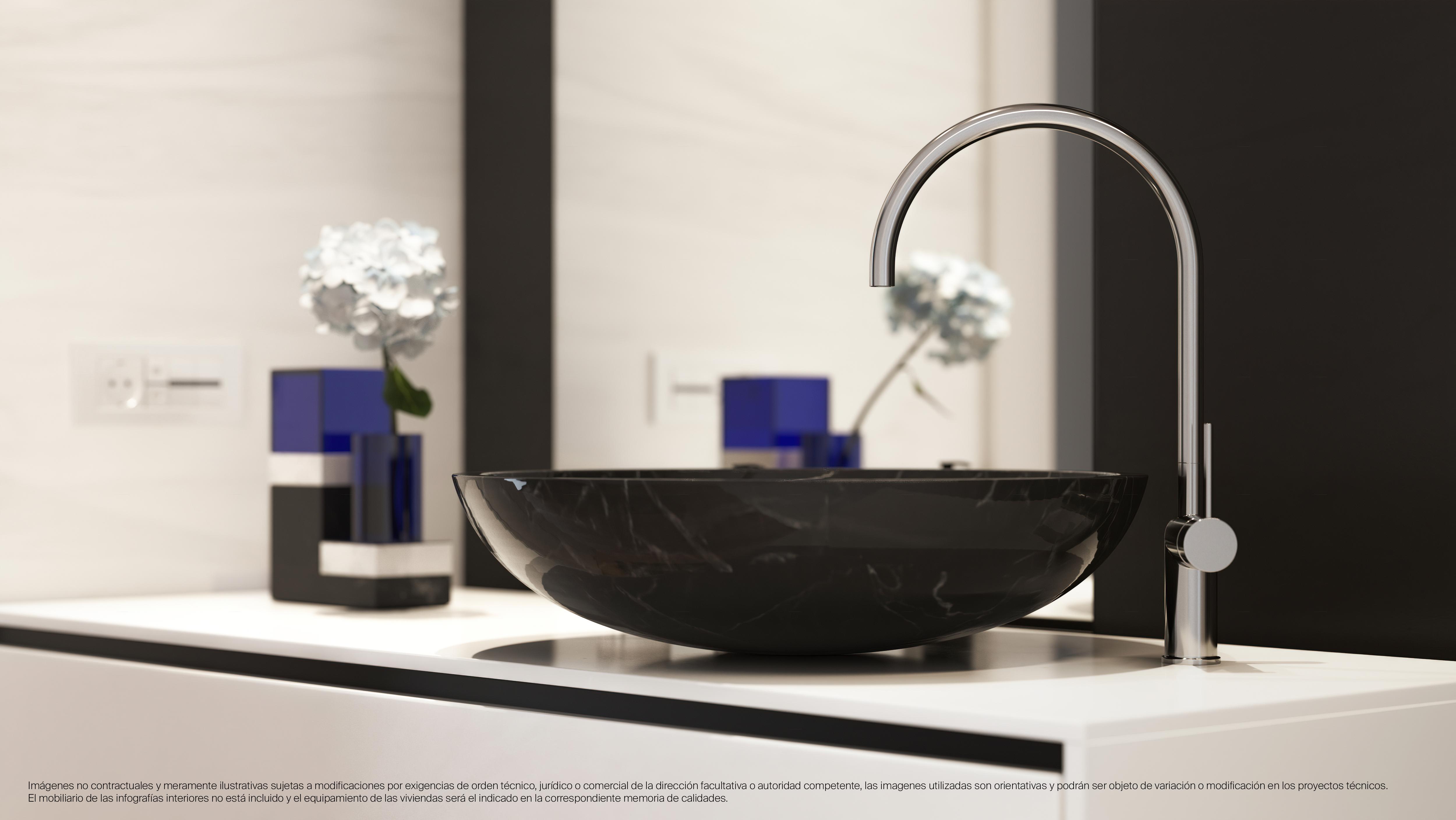 Detalle de las calidades del baño