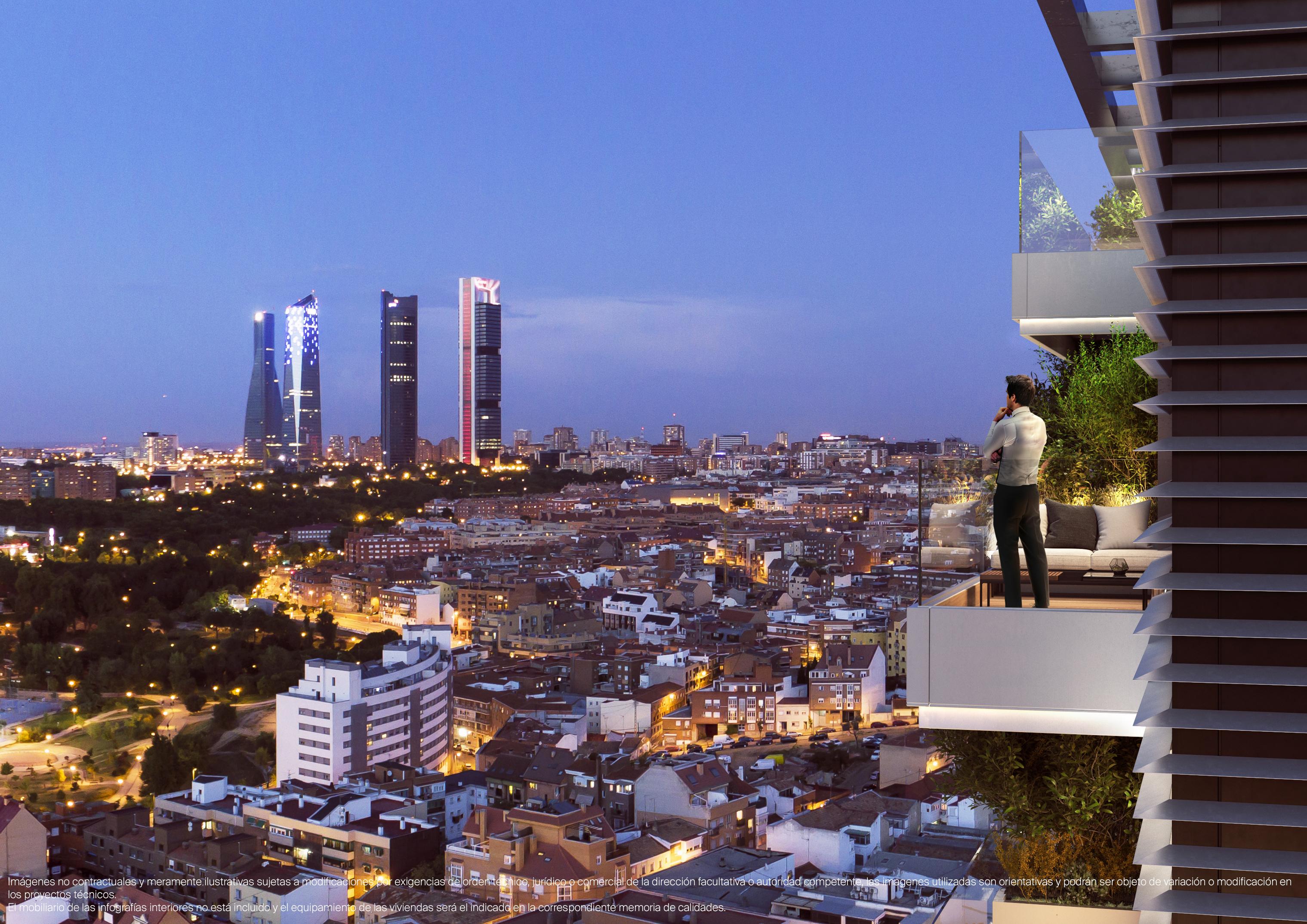 Vistas de las terrazas y Madrid
