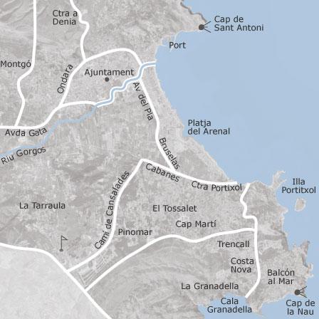 Map Of Javea Xabia Alicante Homes For Sale Idealista