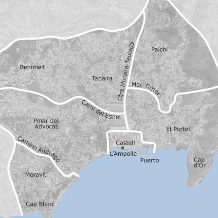 Moraira Spain Map.Map Of Moraira Alicante Homes For Sale Idealista