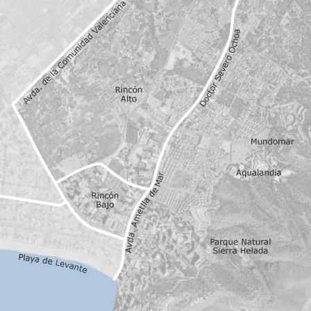 Rincon De Loix Mapa.Mapa De Rincon De Loix Benidorm Idealista