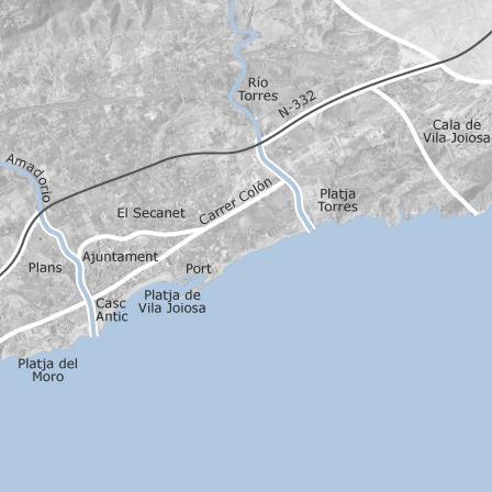 Karta Over La Villajoyosa Vila Joiosa Alicante Bostader Till