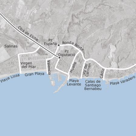Mapa de santa pola alicante viviendas en alquiler for Inmobiliaria santa pola