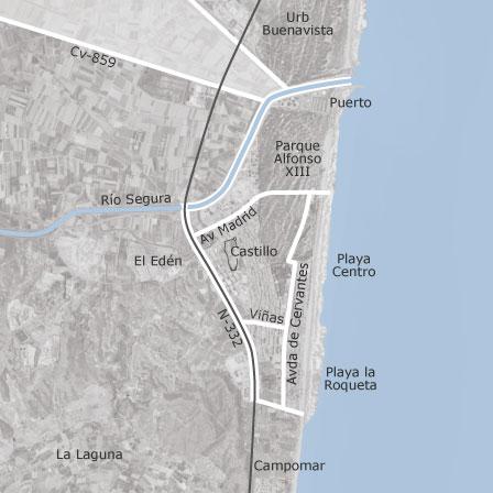 Mapa Guardamar Del Segura.Mapa De Guardamar Del Segura Alicante Idealista