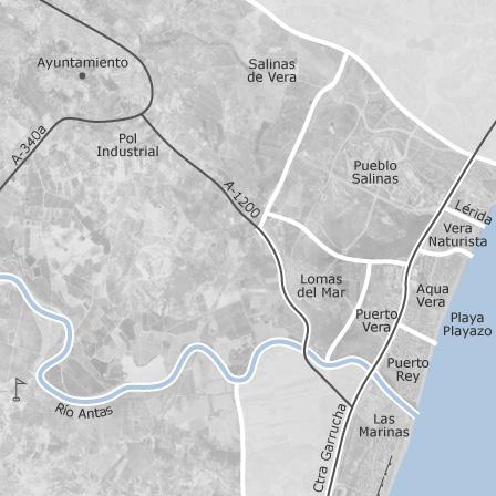 Map Of Vera Almeria Homes For Sale Idealista