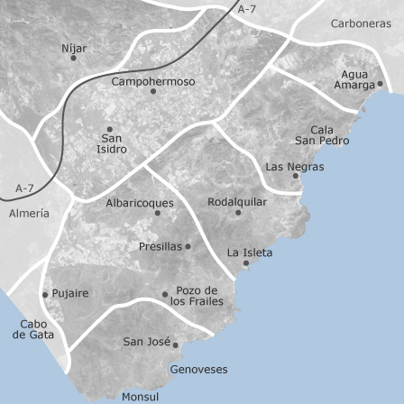 Karta Over Nijar Almeria Bostader Till Salu Idealista