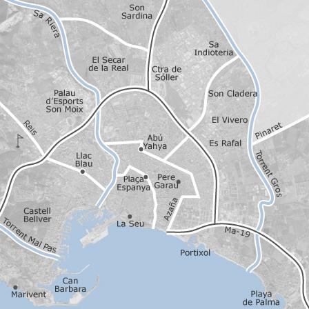 ver mapa de palma de maiorca Mapa de Palma de Mallorca, Balears (Illes): viviendas en alquiler  ver mapa de palma de maiorca