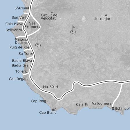Karte Von Llucmajor Balearen Idealista