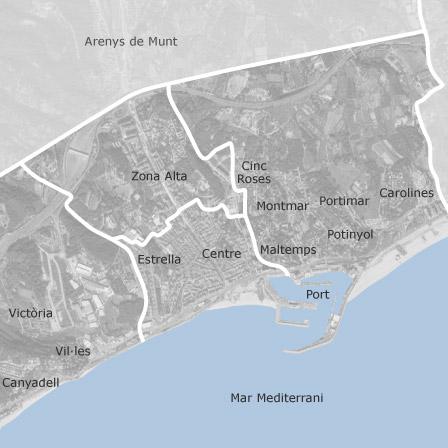 Premia De Mar Mapa.Map Of Arenys De Mar Barcelona Homes For Rent Idealista