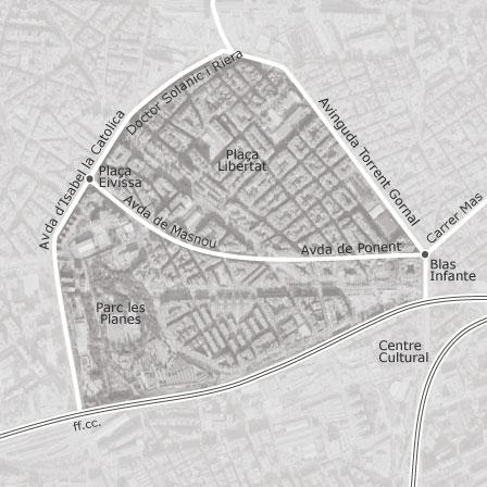 Mapa De L Hospitalet.Mapa De La Florida Les Planes Hospitalet De Llobregat
