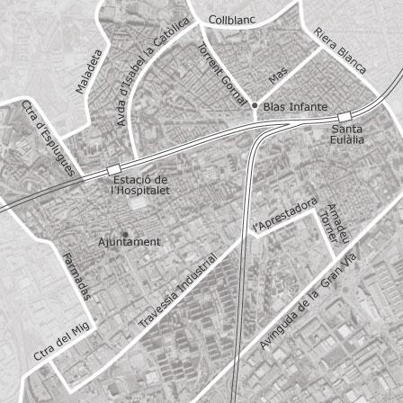 Mapa De Hospitalet De Llobregat Barcelona Idealista