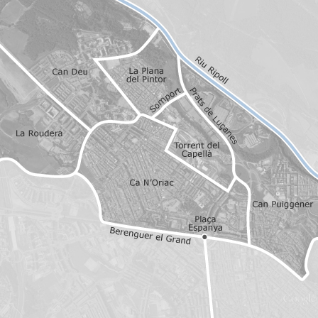Map of Ca NOriac Can Puiggener Sabadell municipalities with