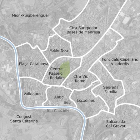 Mapa de manresa barcelona idealista for Pisos particulares manresa