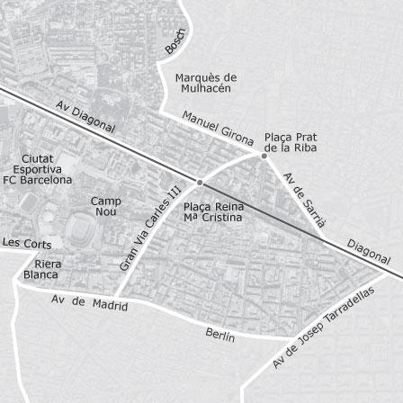 Mapa De Les Corts Barcelona Idealista