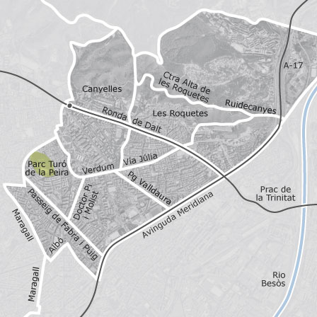 Map Of Nou Barris Barcelona Homes For Sale Idealista