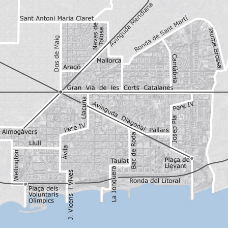 Map Of Sant Marti Barcelona Homes For Sale Idealista