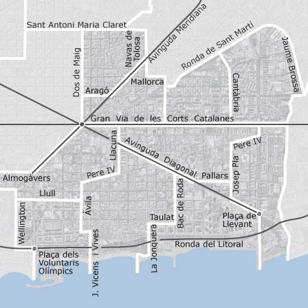 Mapa de sant mart barcelona viviendas en alquiler - Barrio de sant andreu ...