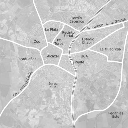 Jerez De La Frontera Karte.Karte Von Jerez De La Frontera Cádiz Idealista