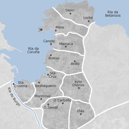 oleiros mapa Mapa de Oleiros, A Coruña — idealista oleiros mapa
