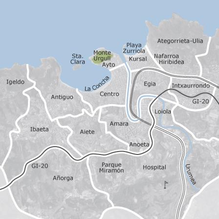 Mapa De Donostia San Sebastian Guipuzcoa Idealista