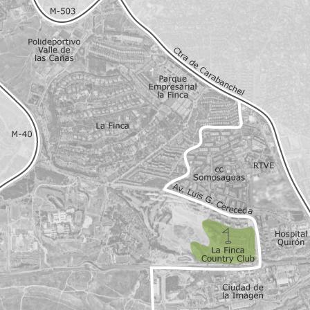 Pozuelo De Alarcon Mapa.Mapa De Zona Prado De Somosaguas La Finca Pozuelo De