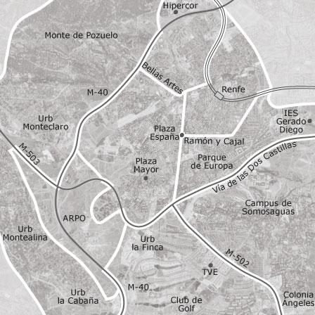 Pozuelo De Alarcon Mapa.Mapa De Pozuelo De Alarcon Madrid Idealista