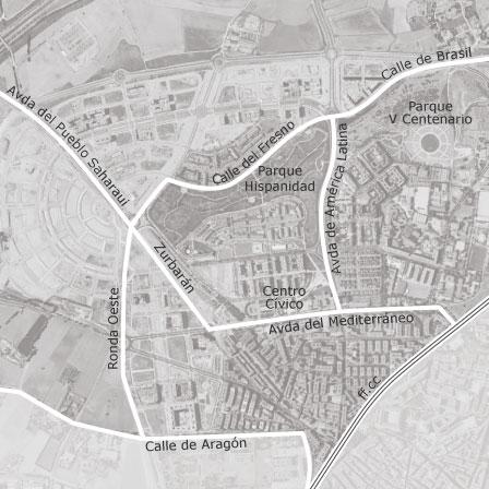 Map Of San Nicasio Campo De Tiro Solagua Leganés - Leganés map
