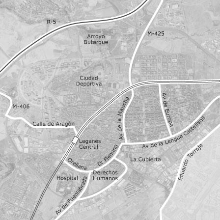 Mapa de Legans Madrid  idealista