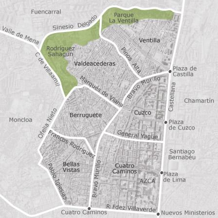 Mapa de Tetun Madrid oficinas en venta  idealista