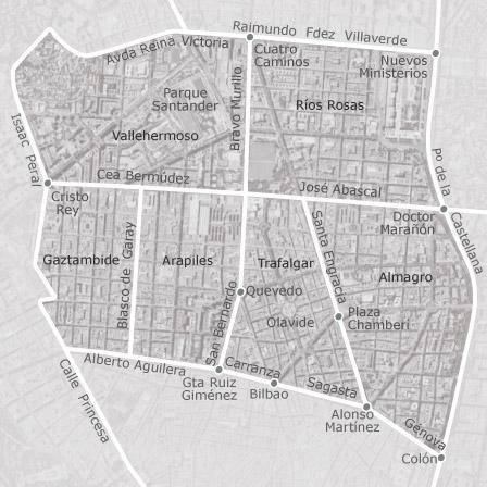 Mapa de chamber madrid viviendas en alquiler idealista - Zona chamberi madrid ...