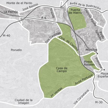 Mapa de moncloa madrid idealista - Plano de aravaca ...