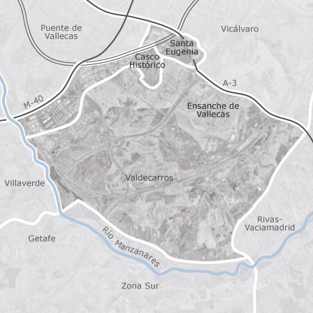 Mapa de villa de vallecas madrid promociones de obra for Obra nueva ensanche de vallecas