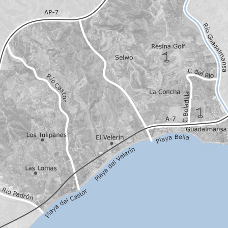 Map of Selwo Estepona municipalities with listings of homes for