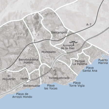 Map Of Benalmadena Malaga Homes For Sale Idealista