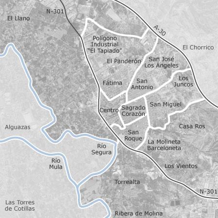 Mapa Molina De Segura.Mapa De Molina De Segura Idealista