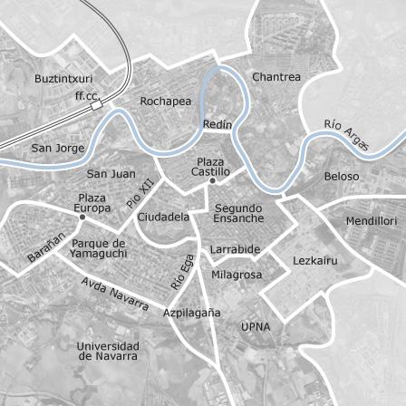 Mapa de pamplona iru a navarra idealista for Idealista pisos pamplona