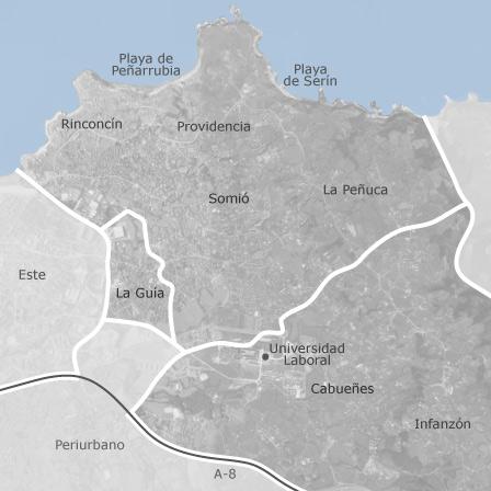 Mapa de somi cabue es gij n viviendas en alquiler for Pisos compartidos gijon
