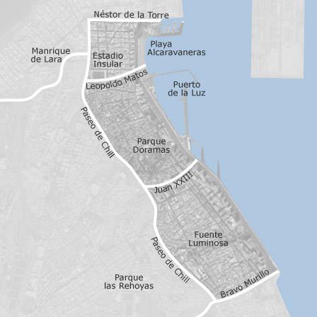 Mapa de centro las palmas de gran canaria viviendas en for Alquiler pisos alcaravaneras
