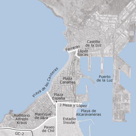 Map of Puerto Canteras Las Palmas de Gran Canaria municipalities