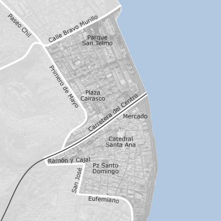 Map of Vegueta Triana Las Palmas de Gran Canaria municipalities