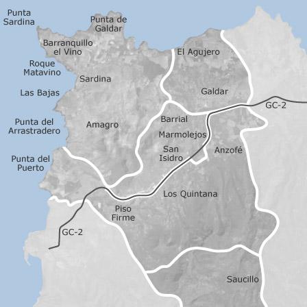 Karta Over Galdar Las Palmas Bostader Att Hyra Idealista
