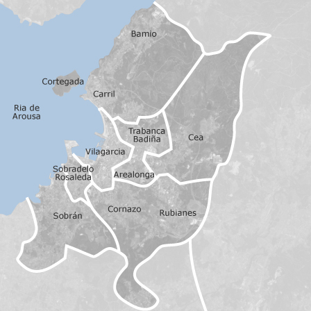 Mapa de vilagarc a de arousa pontevedra locales o naves - Inmobiliarias villagarcia de arosa ...