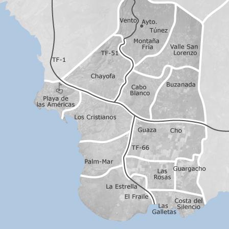 Tenerife Cartina Spagna.Mappa Di Arona Santa Cruz Di Tenerife Comuni Con Annunci Di Case In Vendita Idealista