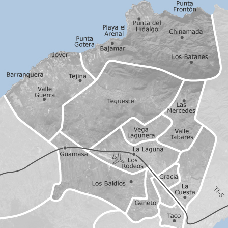 Tenerife Cartina Spagna.Mappa Di San Cristobal De La Laguna Santa Cruz Di Tenerife Comuni Con Annunci Di Case In Vendita Idealista
