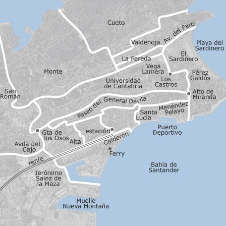 Cartina Santander Spagna.Mappa Di Santander Cantabria Comuni Con Annunci Di Case In Vendita Idealista