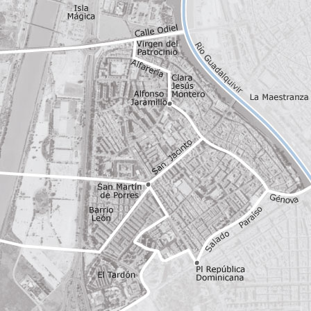 Mapa de triana sevilla idealista for Alquiler de pisos en el centro de sevilla capital
