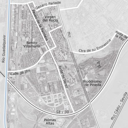 Mapa de la palmera los bermejales sevilla garajes en for Alquiler de casas en sevilla particulares