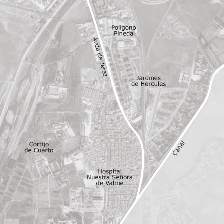 Mapa de bellavista jardines de h rcules sevilla idealista for Alquiler jardines de hercules