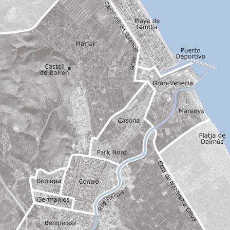 Gandia Spagna Cartina.Mappa Di Gandia Valencia Comuni Con Annunci Di Case In Vendita Idealista